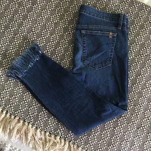 Women's Joes Skinny Crop Jeans, Fringe, Size 32